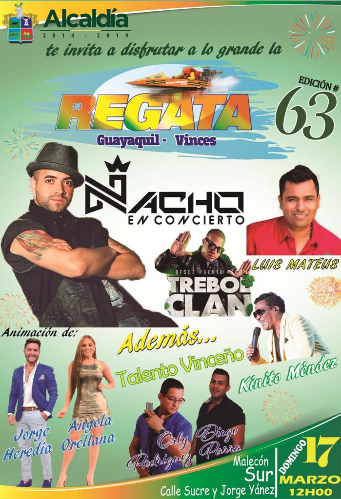 Invitación para las Regatas Guayaquil - Vinces